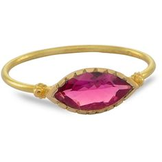 Emma Chapman Jewels - Grecian Gold Pink Tourmaline Ring ($600) ❤ liked on Polyvore featuring jewelry, rings, yellow gold band ring, rubellite ring, polishing gold rings, stackable band rings and gold band ring