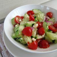 Cucumber Tomato Salad | Paint Chips And Frosting