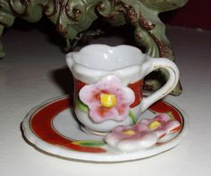 Vintage Doll Teacup and Saucer by NanNasThings on Etsy, $7.95