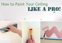 Painting Ceilings! Ouch! But at least now I know how to do it properly.