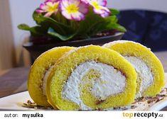 Piškotová roláda s karamelovou šlehačkou recept - TopRecepty.cz Sushi, Ethnic Recipes, 35, Sushi Rolls