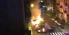 Reportan autos incendiados en Bruselas