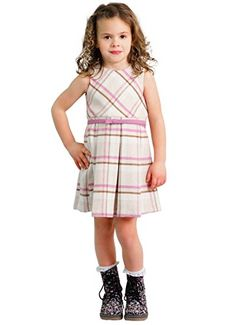 a0f2677ec Dakomoda Toddler Girl's Wool Blend Pink Plaid Belted Dress Luxury Baby  Clothes, Boutique Clothing,