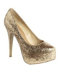 Sparkly Gold Heels. Perfect pop of sparkle for your next event ...