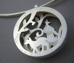 Lucy Palmer, sculptural pendant, art jewelry, woodland jewelry, nature pendant, unique jewelry