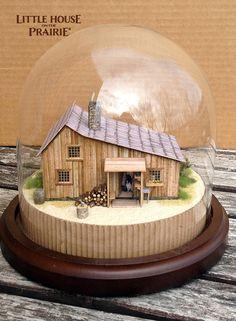 Little House on the Prairie Model Maker: Eric Caron Interview Laura Ingalls Wilder, Ingalls Family, Michael Landon, Model Maker, Miniature Houses, Miniature Crafts, Old Tv, Little Houses, Snow Globes