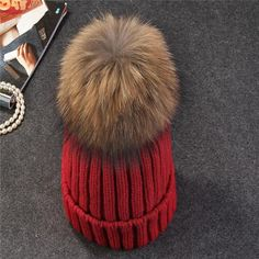 b93cb694ba5 Xthree mink and fox fur ball cap pom poms winter hat for women girl  s hat  knitted beanies cap brand new thick female cap