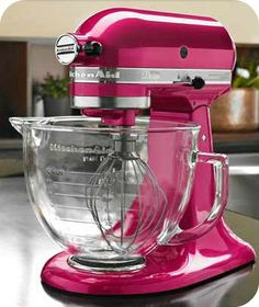 Win a KitchenAid Raspberry Artisan Mixer. I love it. I want it. My kitchen is not complete without it!