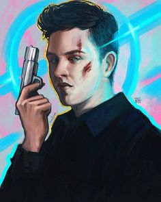 Mickey Milkovich by levitann (Shameless) Ian And Mickey, Noel Fisher, Cameron Monaghan, Marvel Characters, Fictional Characters, Book Show, New Shows, Amazing Art, Favorite Tv Shows