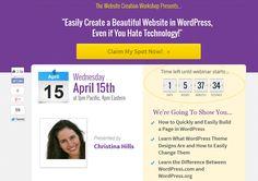 Webinar Landing Page Registration Invitation #webinarway
