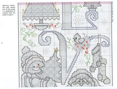 Gallery.ru / Фото #2 - 483 - mornela Snow Much Fun, Cross Stitch Kitchen, Plastic Canvas Christmas, Christmas Cross, Stitch Patterns, Gallery Wall, Diagram, Bullet Journal, Embroidery