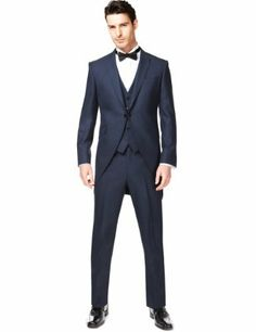 Autograph 2 Button Morning Suit with Wool - Marks & Spencer