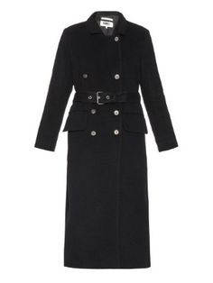 Double-breasted wool and mohair-blend coat | MM6 by Maison Margiela | MATCHESFASHION.COM UK
