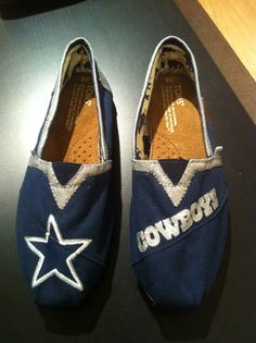 Dallas Cowboys NFL Hand Painted Toms With by CustomTomsByBrandi, $92.00