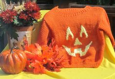 Fall Pumpkin Hat and Sweater by GiftsbyGenie on Etsy