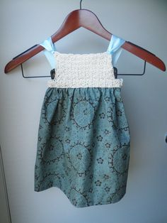 Infant Baby Girl Crochet Sundress Crochet by LittleMommaBoutique, $20.00