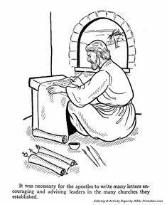 The Apostles Coloring Pages