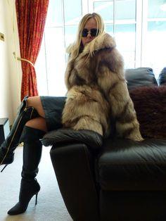 Real polar fox short coat size L UK 12-14-16 in Vêtements, accessoires, Femmes…