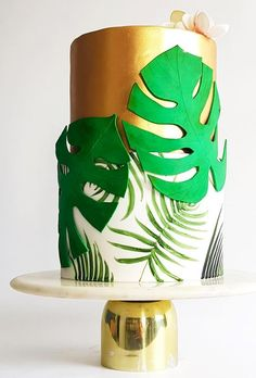Bright, colorful and unusual, this is exactly how a tropical wedding cake should be. The best tropical wedding cake trends are collected in our gallery. Wedding Cake Prices, Wedding Cakes, Hawiian Wedding Cake, Cake Pricing, Lime Cake, Gold Birthday Cake, Cake Trends, Unique Cakes, Baby Shower