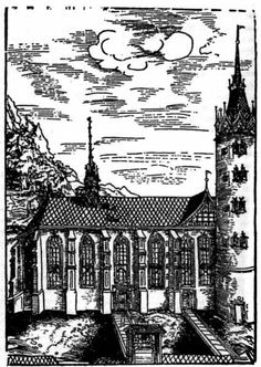 Castle Church at Wittenberg, burial place of Martin Luther.
