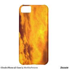 Clouds iPhone 5C Case #clouds #iPhone #case #orange