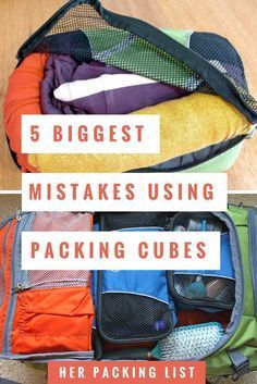 5 biggest mistakes using packing cubes You can organize your luggage belongings once and for all when you use packing cubes. Pack happy, organized, and with less drama with the help of packing cubes. Packing Tips For Vacation, Her Packing List, Packing List Beach, Cruise Tips, Carry On Packing, Packing Hacks, Packing Ideas, Travel Backpack Carry On, Vacation Deals