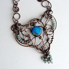 The Tangled Heart  Copper Amazonite AquaTerra by sparkflight, $275.00