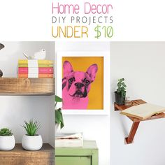 Home Decor DIY Projects Under Ten Dollars - The Cottage Market