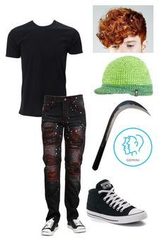 """""""OC: Louis"""" by the-mighty-fail ❤ liked on Polyvore featuring The North Face, Converse, men's fashion and menswear"""