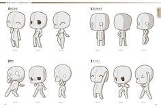 Manga Drawing Tips Chibi Template Kawaii Drawings, Cartoon Drawings, Cute Drawings, Drawing Techniques, Drawing Tips, Drawing Tutorials, Drawing Ideas, Body Drawing, Drawing Base