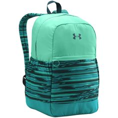 Under Armour Girls Favorite Backpack (47 CAD) ❤ liked on Polyvore featuring bags, backpacks, blue, blue backpack, green backpack, under armour backpacks, padded backpack and knapsack bags