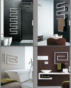 Stunning heated towel rails with a contemporary shape! #hotlooks