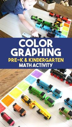 An early math activity for preschool and kindergarten students, this easy color graphing game is perfect for sorting, counting, and graphing skills! Start early math activities at home with learning play for preschool and kindergarten educational fun! Preschool Activities At Home, Graphing Activities, Kindergarten Math Activities, Educational Activities For Kids, Fun Math, Fun Learning, Math Games For Preschoolers, Preschool Displays, Kindergarten Colors