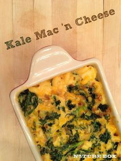 Kale Mac n Cheese- I think I am going to try this but go lighter on the cheese. I bet you would not even notice  https://www.facebook.com/pages/All-in-the-Balance/201852389942282