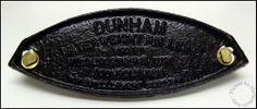 1900's Vintae DUNHAM Water Weight Roller, Black Painted Cast Iron Logo Badge