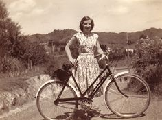 """This is my grandmother, Elizabeth Anne Waters. She got this bike for passing school certificate."" -alessoninwhimsy (http://alessoninwhimsy.tumblr.com/)"