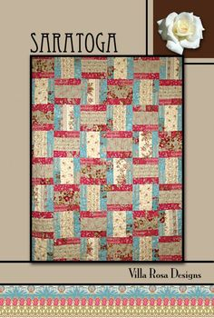 Saratoga quilt pattern by Pat Fryer, Villa Rosa Designs