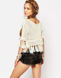 Image 2 of Free People On The Fringe Knitted Jumper
