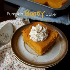 Pumpkin Gooey Cake(I'm making a healthier version..there is no way that I am putting a box of sugar in anything I consume! Lol!)