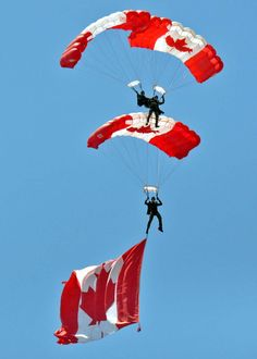 Skyhawks Parachute Team, CFB Borden Air show. I Am Canadian, Canadian Girls, On A Clear Day, Canada 150, Paragliding, Air Show, Canada Travel, Countries Of The World, Armed Forces