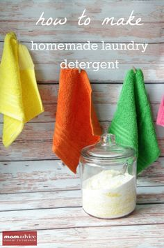 How to Make Homemade Laundry Detergent (A Picture Tutorial) from MomAdvice.com.  (How to grate soap in your food processor)