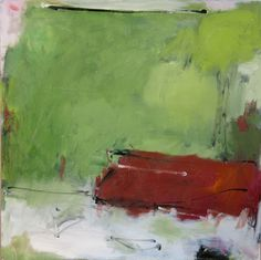 https://flic.kr/p/a5u9Tz | red bench | 30 x 30 in.   oil on canvas