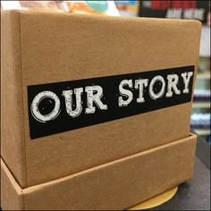 """""""Our Story"""" is the come-on for this Briggs-&-Featherbelle Handcrafted Soap Storytelling. Takeaway brochures are yours to carry off and learn the story. Retail Fixtures, Store Fixtures, Storytelling, Literature, Stationery, Soap, Literatura, Papercraft, Paper Mill"""