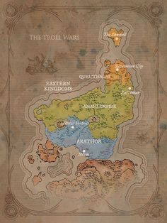 Quel'Thalas - Wowpedia - Your wiki guide to the World of Warcraft Warcraft Map, World Of Warcraft 3, Dream Fantasy, Fantasy Life, Fantasy Map Creator, Imaginary Maps, For The Horde, Blood Elf, Heroes Of The Storm