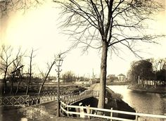 de westersingel vroeger  met het jodenkerkhof het cafe witte paard is ook nog te zien