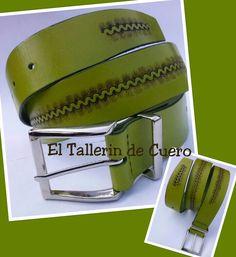 Cinturon de cuero. Hecho a mano. Handmade. Facebook.com/ElTallerindeCuero-ArtesaniaPaloma
