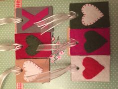 Gift tags coverings of felt makes your gift fun and by Vilterke