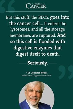 EGGPLANT CANCER CURE: Dr. Wright tells the story of a plant that's said to heal skin cancer. Click on the quote above to watch the full story.
