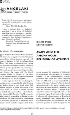 Agape and the Anonymous Religion of Atheism. the political and the infinite theology and radical politics, pp. Catechism, First Page, Atheism, Morals, Religion, Politics, Club, Thoughts, Book