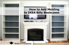 How to Add Molding to IKEA Billy Bookcases